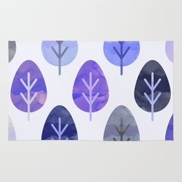 Watercolor Forest Pattern #5 Rug