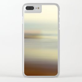 Ocean wind. Abstract sea blurred design Clear iPhone Case