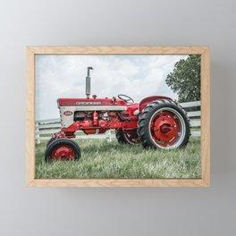 International Harvester Farmall 240 Side View Red Farming Tractor Framed Mini Art Print