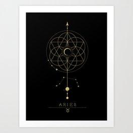 Aries Zodiac Constellation Kunstdrucke