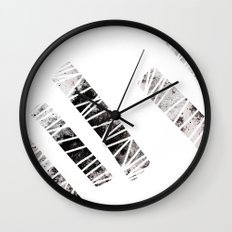 more stripes / black Wall Clock