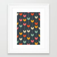 tulips Framed Art Prints featuring Tulips by Tracie Andrews