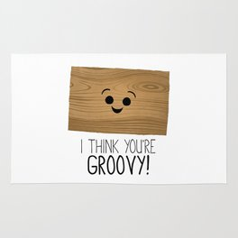 I Think You're Groovy! Rug