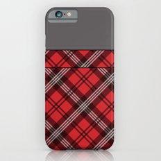 Scottish Plaid (Tartan) - Red Slim Case iPhone 6s