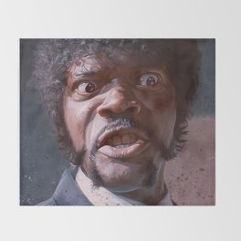 Pulp Fiction Jules Winnfield - Furious Anger Throw Blanket
