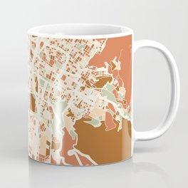 MEDELLIN COLOMBIA CITY MAP EARTH TONES Coffee Mug