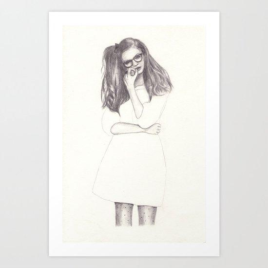 No.4 Fashion Illustration Series Art Print