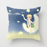naruto Throw Pillows featuring Naruto by DmDan