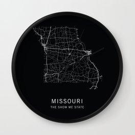 Missouri State Road Map Wall Clock