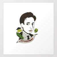 mulder Art Prints featuring Fox Mulder  by  Lady Grey