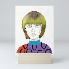 Tora Tough, a tough lady Mini Art Print