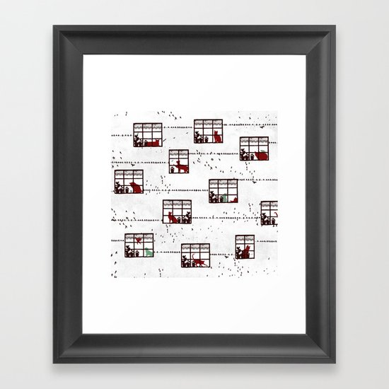Cat Moments Framed Art Print