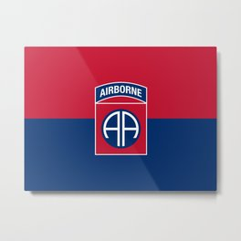 Flag of United States Army 82nd Airborne Division Metal Print
