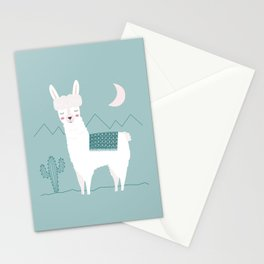 Alpaca In The Mountains Stationery Cards