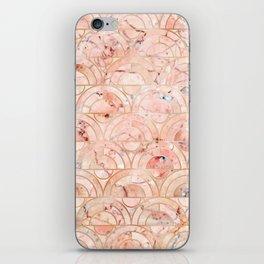 Peachy Marble (foor) iPhone Skin