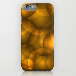 Glowing bronze soap circles and volume golden bubbles of air and water. iPhone Case
