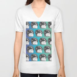 Minifigure Pattern - Cool Unisex V-Neck