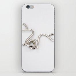 Brain teaser metal iPhone Skin