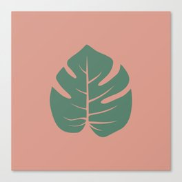 Tropical palm leaf Canvas Print