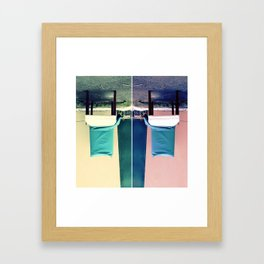 An Upside Down Dumping Framed Art Print