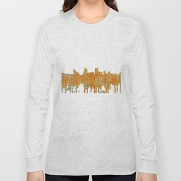 Anchorage, Alaska Skyline - Rust Long Sleeve T-shirt