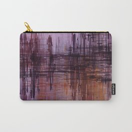 Purple / Violet Painting in Minimalist and Abstract Style Carry-All Pouch