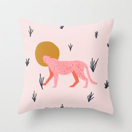 trot cat Throw Pillow