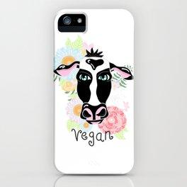 Vegan cow iPhone Case