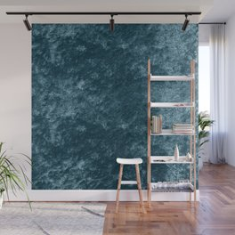 Peacock teal velvet Wall Mural