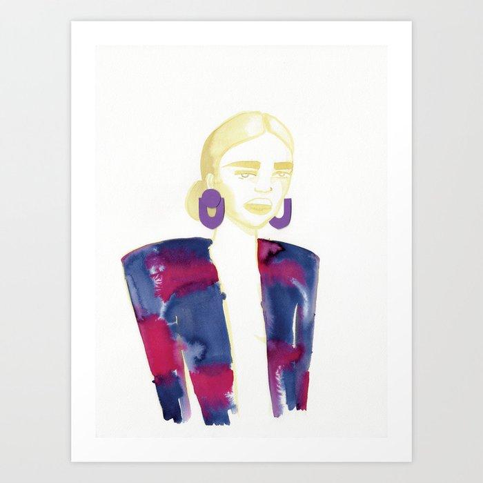 Meg's extravagant cardigan Art Print