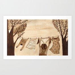 Tendedero Art Print