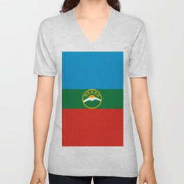 Flag of Karachay-Cherkessia Unisex V-Neck