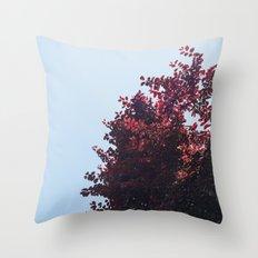Dear red tree Throw Pillow