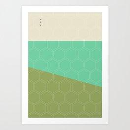 Geo Block No. 1 Art Print