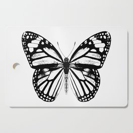 Monarch Butterfly   Black and White Cutting Board