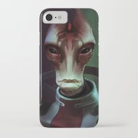 mass effect iPhone & iPod Cases featuring Mass Effect: Mordin Solus by Ruthie Hammerschlag