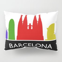 barcelona skyline Pillow Sham