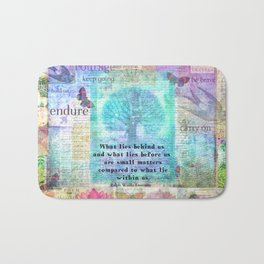 Emerson quote about life Bath Mat
