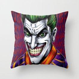 Clown Prince Throw Pillow