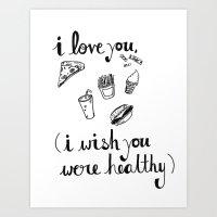 health Art Prints featuring Health Problems by Handwritten