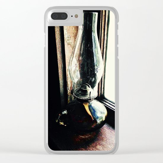 Oil Lamp, Waiting Clear iPhone Case