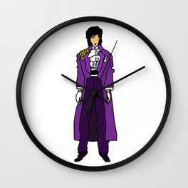 Ultraviolet Purple One 5 Wall Clock