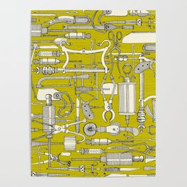fiendish incisions chartreuse Poster