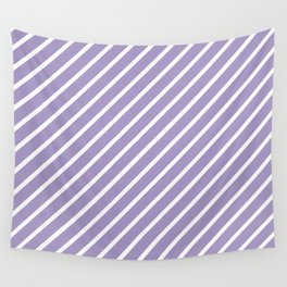 Lavender Tight Stripes Wall Tapestry