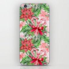 Poinsettia & Candy cane iPhone & iPod Skin