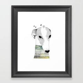 Mr. Galgo Dog Framed Art Print