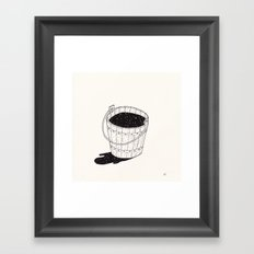 bucket of milk Framed Art Print