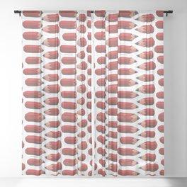 lying pencils Sheer Curtain