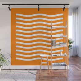 Waving It Wave Stripes Wall Mural