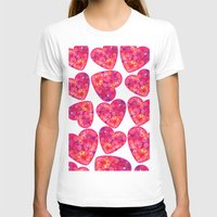 hearts T-shirts featuring Hearts by luizavictoryaPatterns